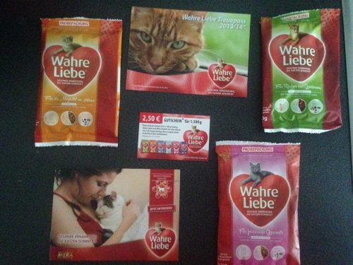 Kostenloses Katzenfutter Wahre Liebe