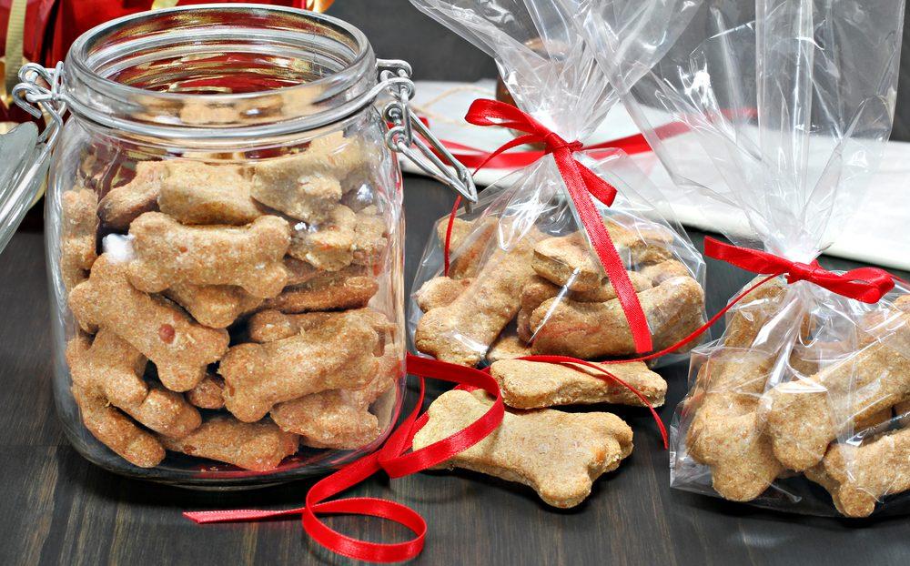 Hundekekse zu Weihnachten