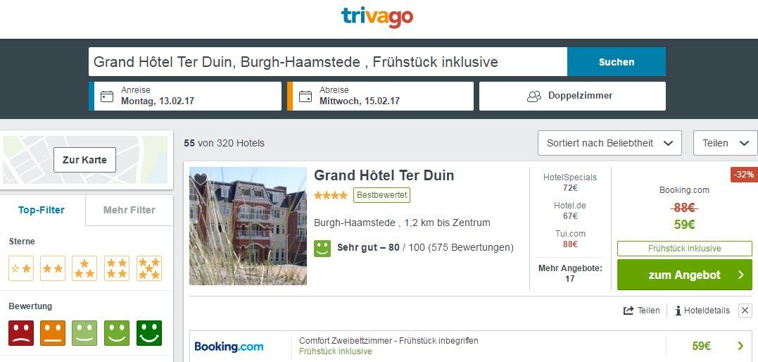 Grand Hotel Ter Duin Burgh Haamstede Bewertung