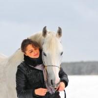 Frau Pferd WInter