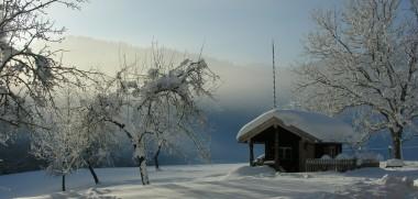 Hütte Schneelandschaft