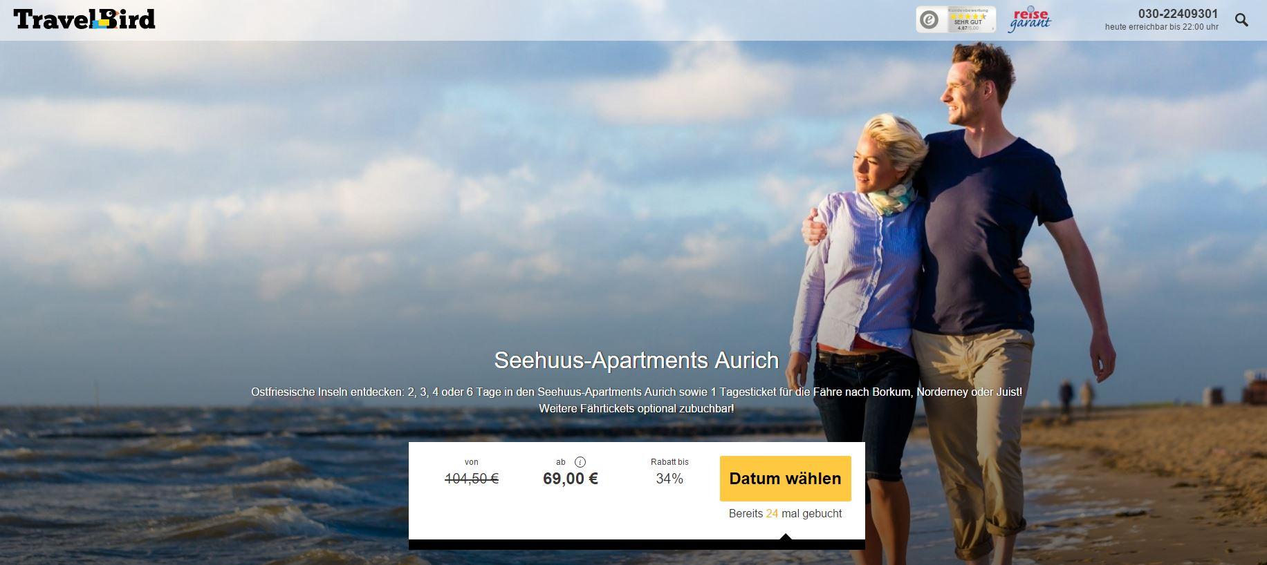 Schn ppchen urlaub borkum for Gunstige hotels nordsee