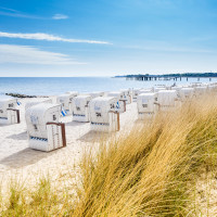 View from a dune at Beach Chairs