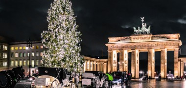Photo of Brandenburg Gate at christimas in Berlin, Germany